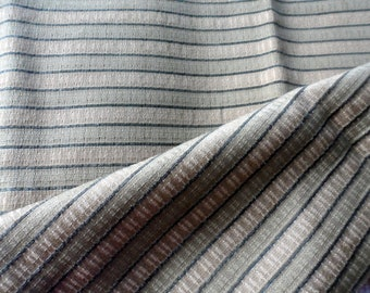 REMNANT Polyester-Cotton Blend Home Decor Fabric/Vintage Beautiful Gold and Green Striped Fabric Remnant/Home Decor Fabric