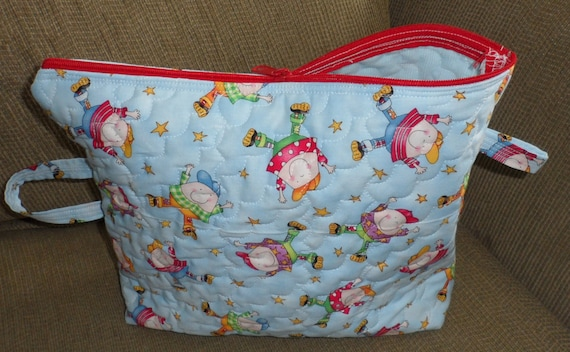 TOY BAG 4 TOTS Quilted Take Along Bizzeee BagZippered Bag 4 ToddlersSmall Quilted Bag For ChildrenQuilted Bag 4 Little Ones Small Toys