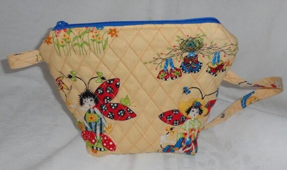 LADY BUG étreintes Bizzzee sac pour les petites filles/100 pour cent coton tissus/Long Manche pour transporter ou pour s'adapter à petites épaules/piqué n grande fermeture éclair