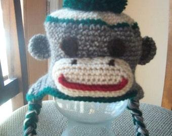 St. Patricks Day Crochet Sock Monkey Hat Newborn 6c573d5a32ce
