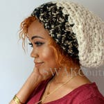 Slouchy Chunky Beanie Downtown Slouchy Cap, Satin Lined Beanie (or plain) - Cocoa Dipped or Choose Your Color