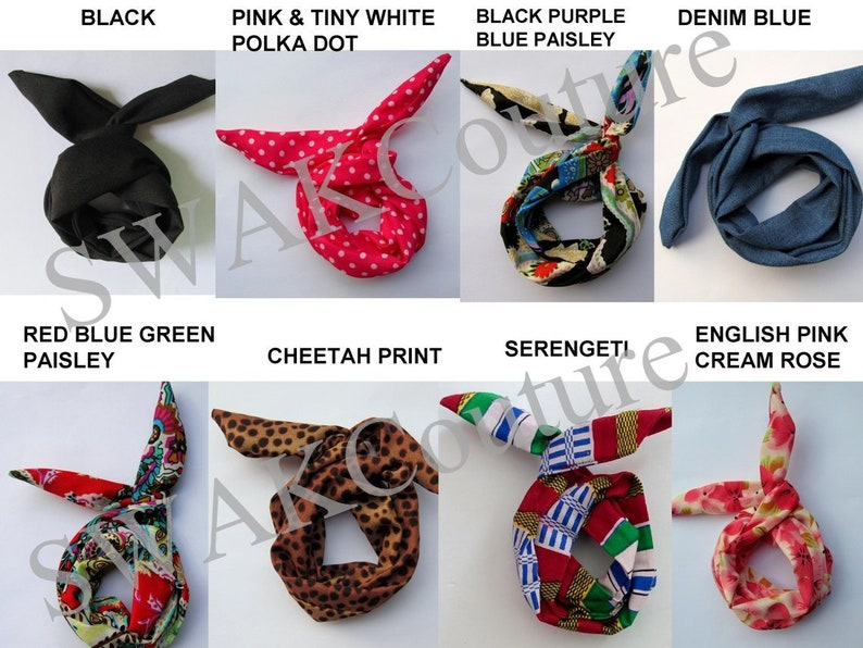Bun Wire Wraps CHOOSE Any Two  Wired Flex Headband PonyTail image 0