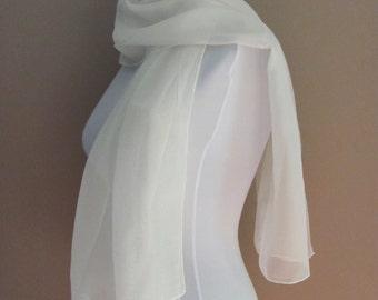 Foulard en mousseline de soie ivoire mariage écharpe foulard léger,  Bridemaid foulard Wrap nuptiale écharpe aef08c0dc06