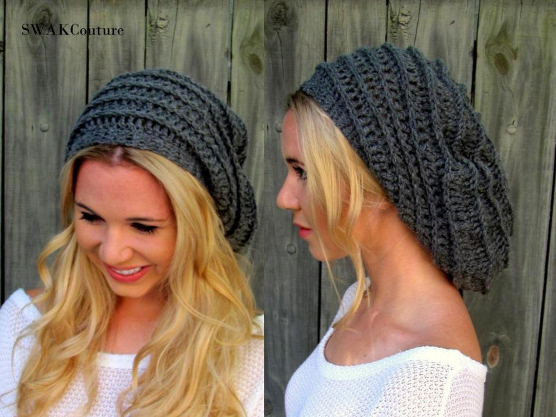 Slouchy Beanie Satin Lined Winter Hat Slouchy Ribbed Cap  9a7e4e1f2ef