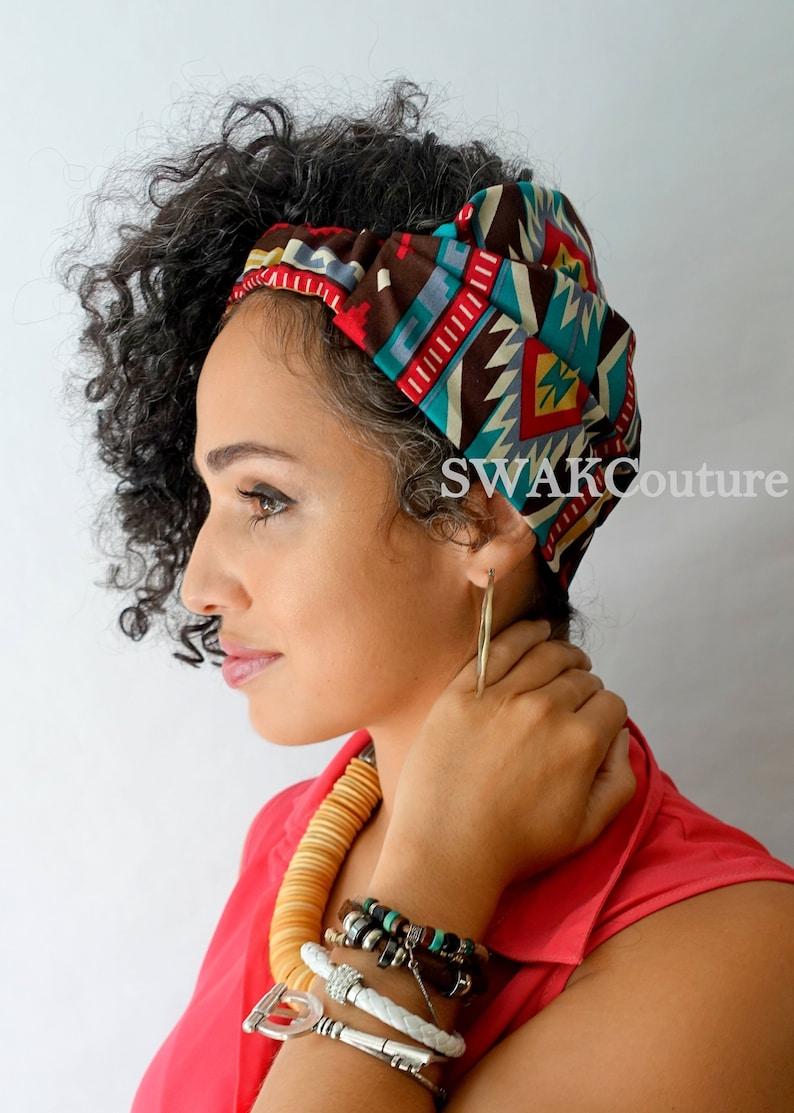 Satin Lined Headband Wrap Wide Headband Wrap Messy Bun Wrap image 0