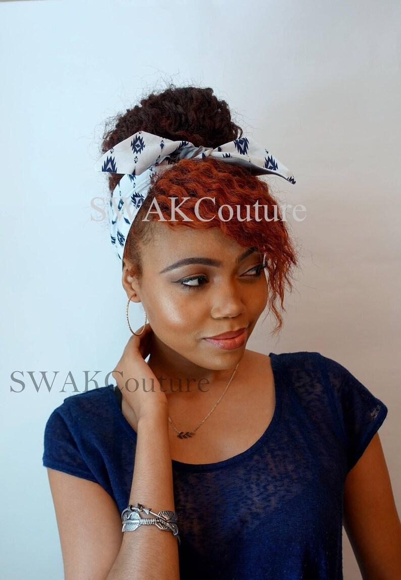 Dolly Bow headband Rockabilly Pinup Headband Tie Headband image 0