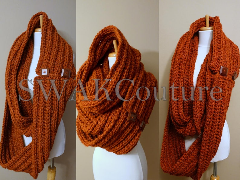 Eternity Scarf Oversized Wool Scarf Convertible Tundra Scarf image 0