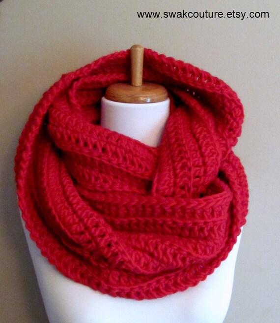 100 % laine éternité écharpe Super doux infini écharpe Chunky   Etsy 98449322fb5