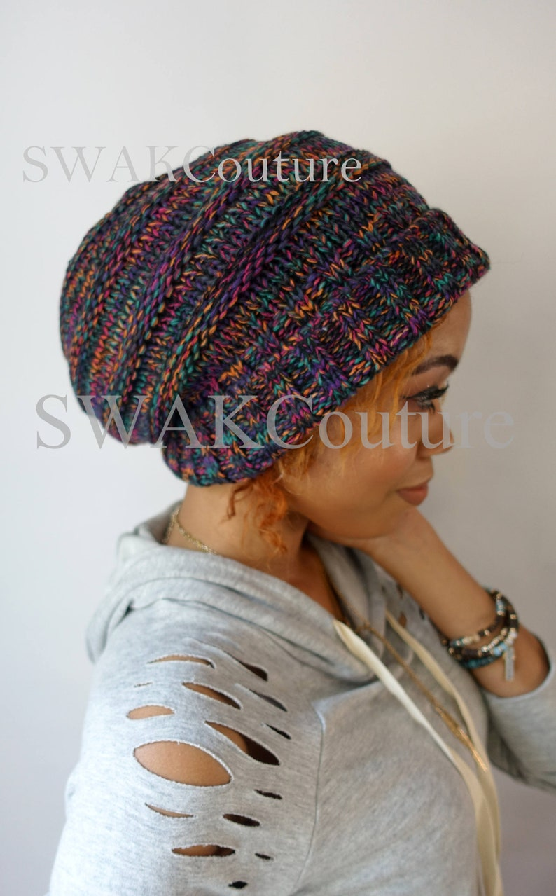760f7b5e4 Carmen Beanie Satin Lined Cap Winter hat Thick Stretch Cotton Wool Blend  Knit Beanie Confetti or Choose Your color