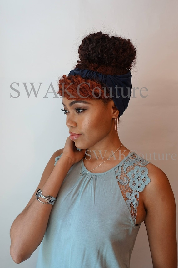 Satin Lined Headband For Natural Curly Hair Wide Headband Wrap Messy Bun Wrap African Print Wrap Turban Djenaba 2 Or Choose Print