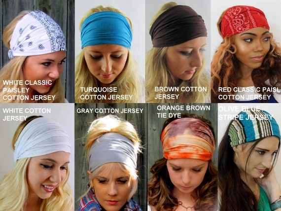 Headbands for Women Head Wraps Choose Any TWO Workout  5d0d7954ee