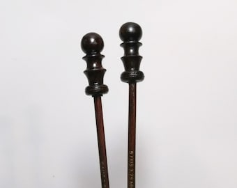 """One pair of 14"""" Rosewood knitting needles, size US 5 (3.75mm)"""