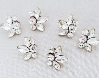 Bridesmaids Earrings, Vintage Boho Antique style crystal bridal stud earrings, - 'ELITA'