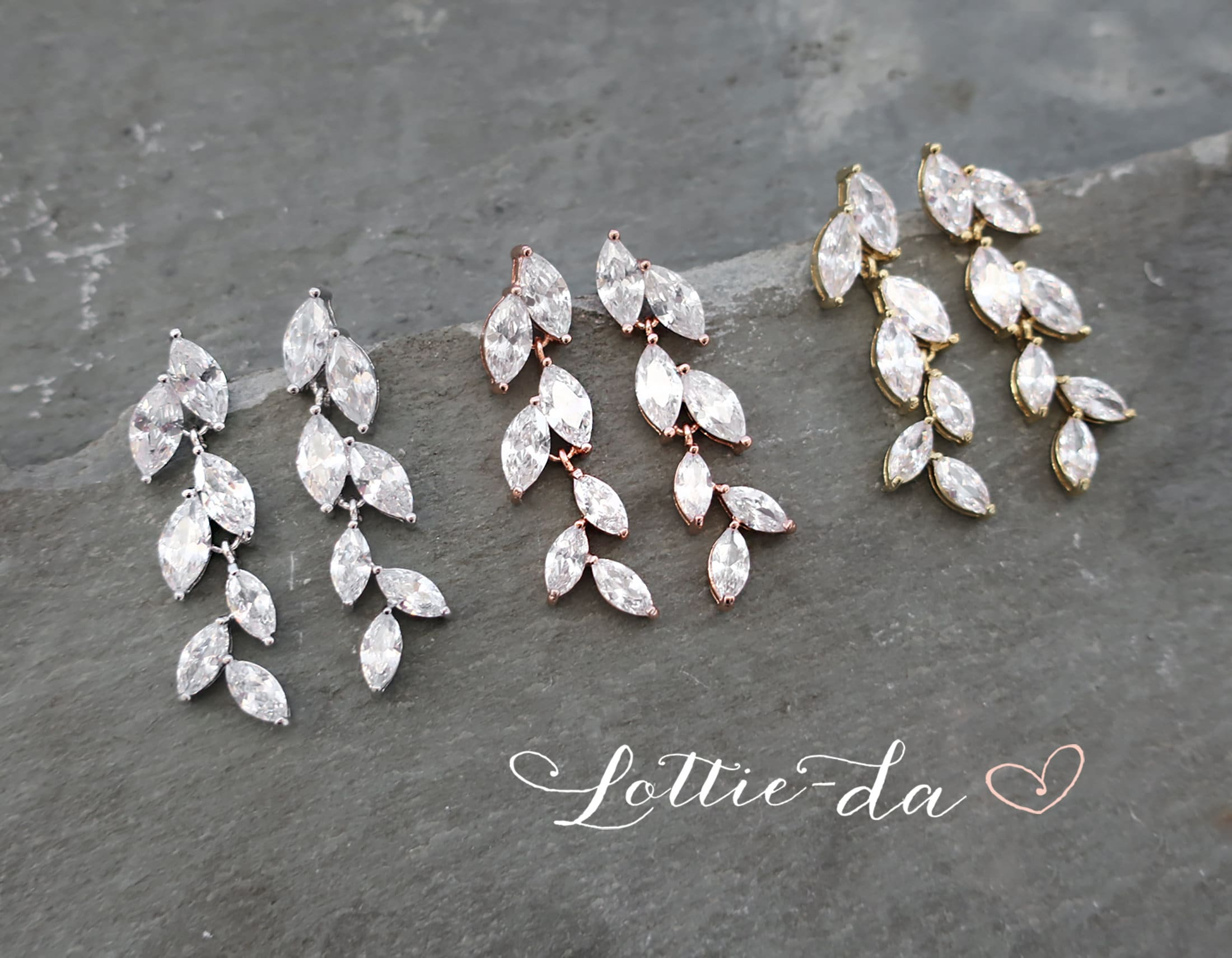 bridesmaid gifts,Wedding jewelry Dangle Two Leaves Earrings,Drop