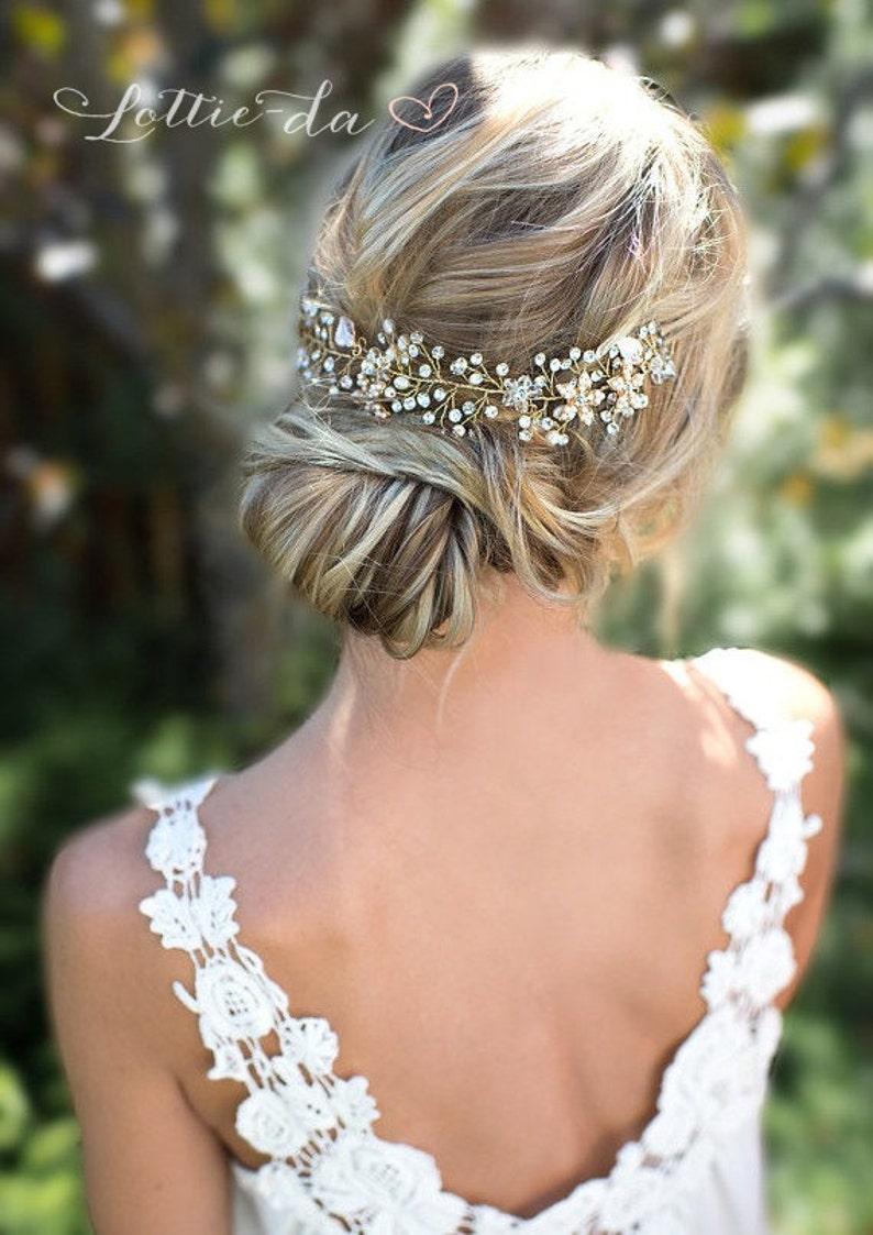 Wedding Hair Accessory Hair Vine Boho Bridal headpiece with image 0