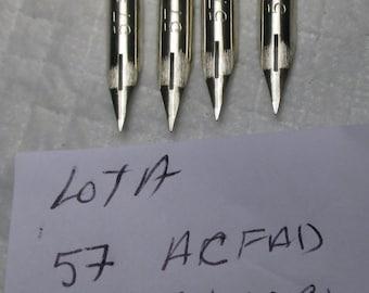 FOUR Vintage 57 ACFAD SILAC Cc Boston England Fountain Pen Nibs writing calligraphy writing calligraphy clean