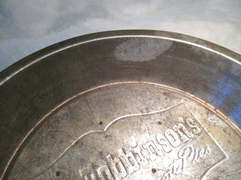 Vintage Mrs Robbinson/'s Fine Restaurant Table Top Pie Tin Pan 9 12 diner decor country primitive bakeware kitchenware new england decor