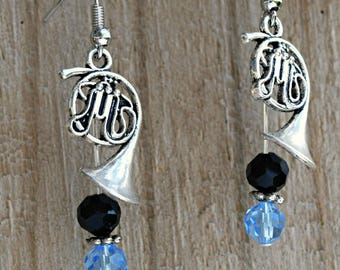 Music Jewelry - Band Charm Jewelry - French Horn Earrings - Instrument Earrings