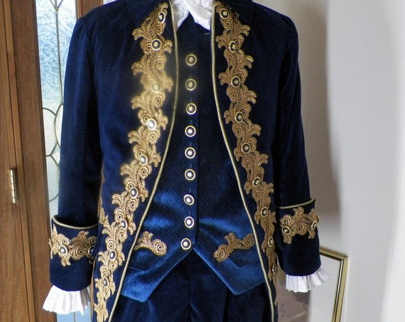 Frock Coat, Frock Coat Men, 18th Century Frock Coat, Colonial Frock Coat, Custom 4 Piece Set, Handmade,