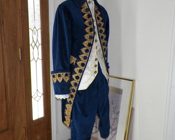 Frock Coat, 18th Century Frock Coat, Colonial Frock Coat, Frock Coat Cosplay, 4 Piece Suit, Handmade to Measurements