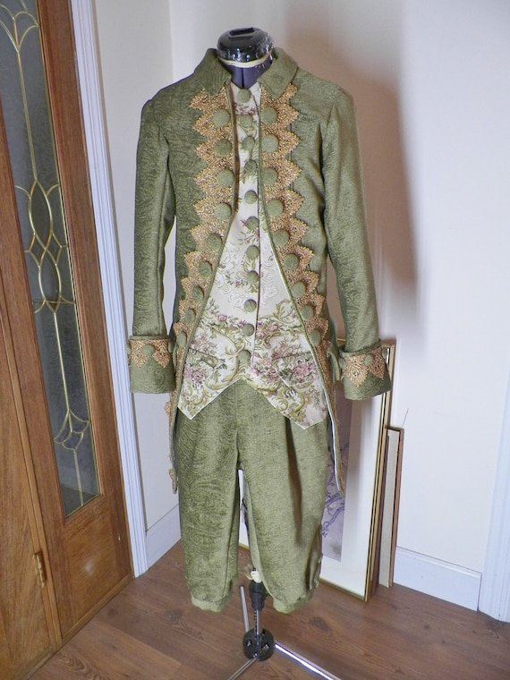 Frock Coat, Frock Coat Men, 18th Century Frock Coat, Colonial Frock Coat, Frock Coat Cosplay, Pirate Frock Coat, 4 Piece Suit, Handmade