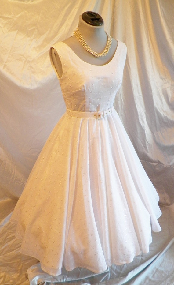 1950s 50s Vintage Style Wedding Dress, Sexy Summer Wedding Dress, Retro Summer Wedding Dress,