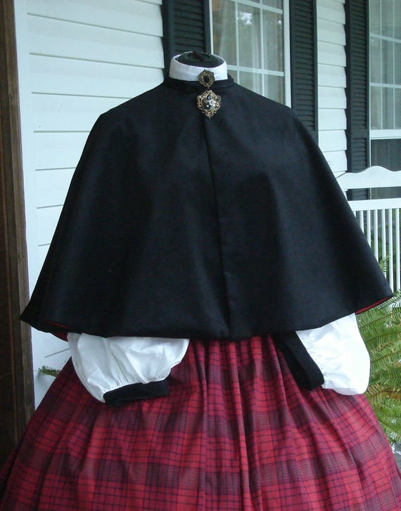 Victorian Dickens Christmas Carolers Holiday  18th Century Dress Costume, Seven Peice Set, handmade