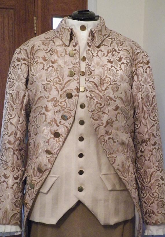 Frock Coat, Frock Coat Men, 18th Century Frock Coat, Colonial Frock Coat, Frock Coat Cosplay, Pirate Frock Coat, 4 Piece Suit, Handmade