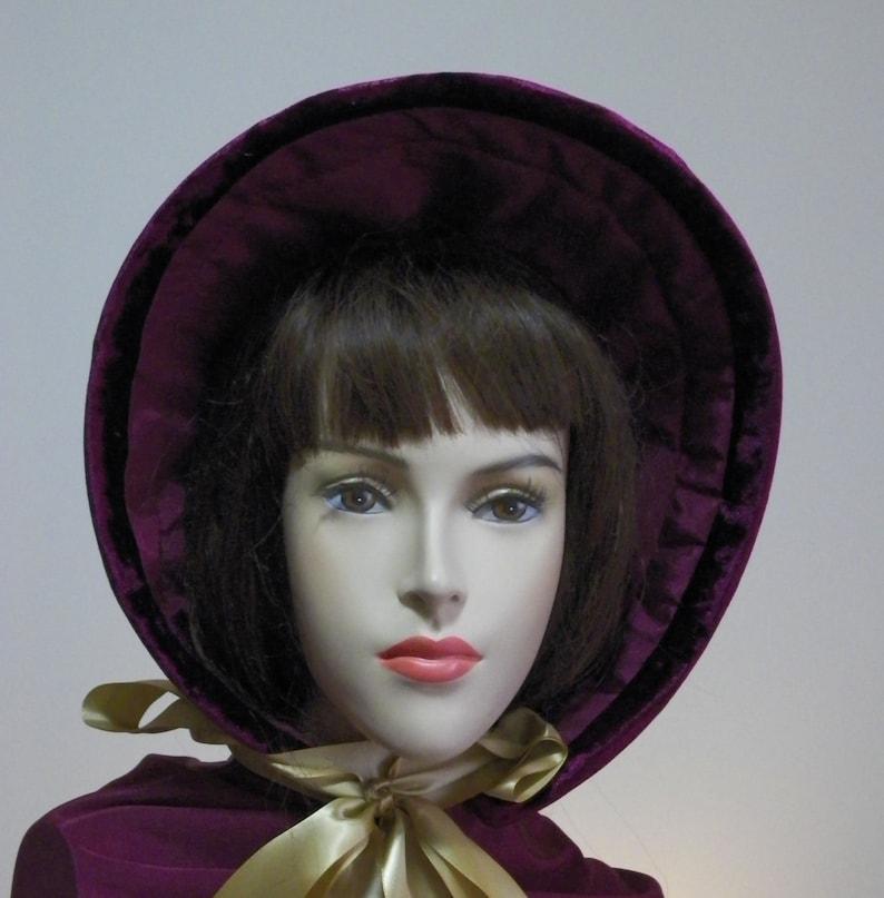 Dickens Bonnet Handmade Civil War Bonnet Victorian Bonnet 1800/'s Bonnet Dickens Christmas Bonnet Spoon Bonnet Regency Bonnet