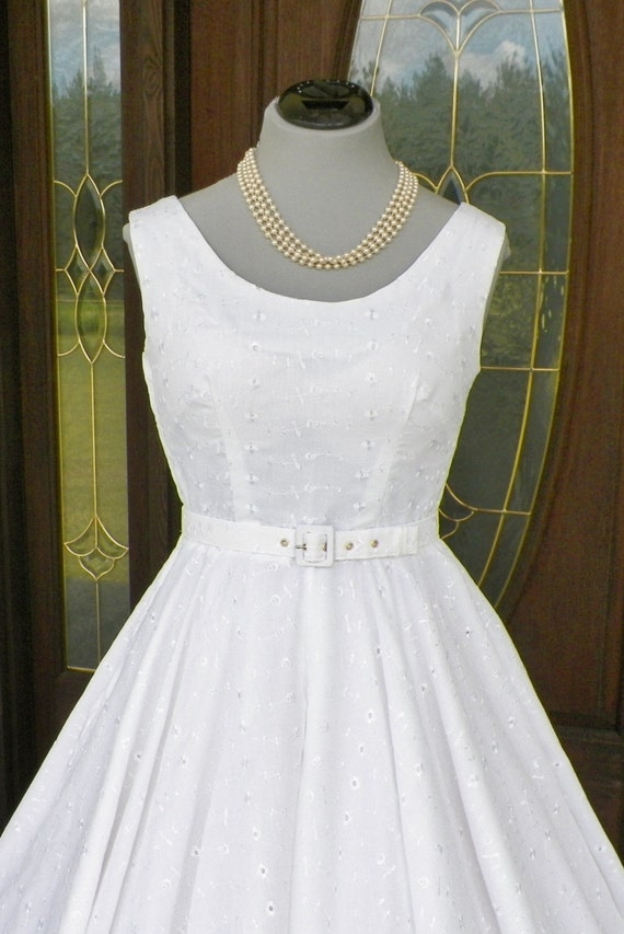 1950s 50s Vintage Inspired Wedding Formal Cocktail Retro Party Mad Men Sexy Swing Crinoline Dress made to order