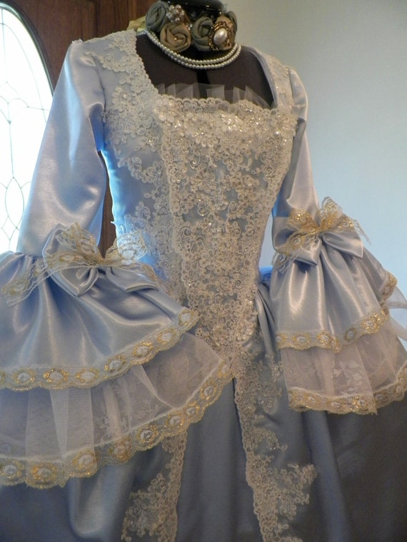 Marie Antoinette Dress, Marie Antoinette Costume, 18th Century Dress, Rococo Dress, Colonial Dress, Handmade to your measurementse