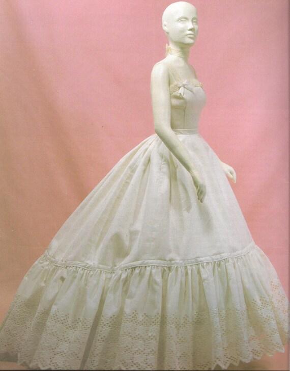 Victorian Petticoat for Elliptical Cage Crinoline made to your Measurements over Elliptical Cage Crinoline