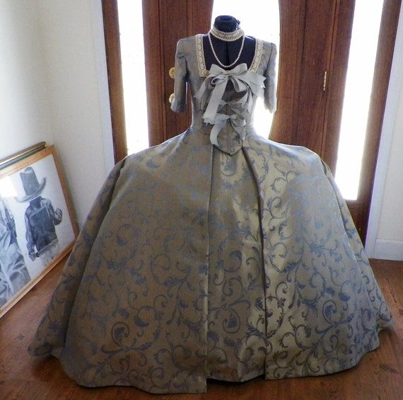 Marie Antoinette Dress Gown, Dr Who Madame Pompadour Fireside Movie Costume, made to your size and measurements