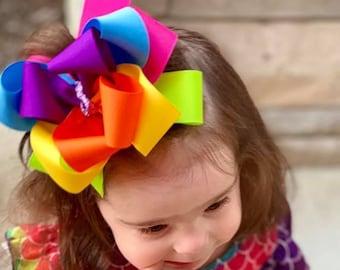 Boutique Hair Bows Girls Hair Bows Big Bows Bundle Lot of 14 Wholesale Basic Bow
