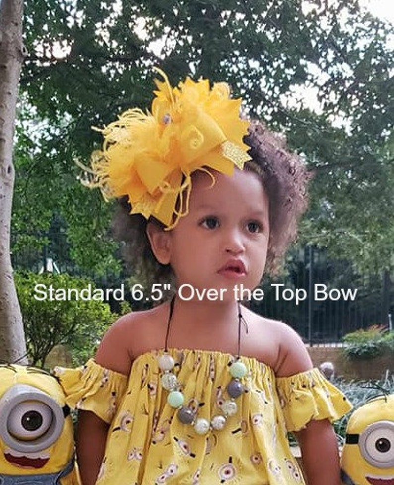 Pageant Party bow Boutique Hairbow Black Over the Top Hairbow Girls Hair Bows Ostrich Feather Bow Baby Headbands Headbands for babies