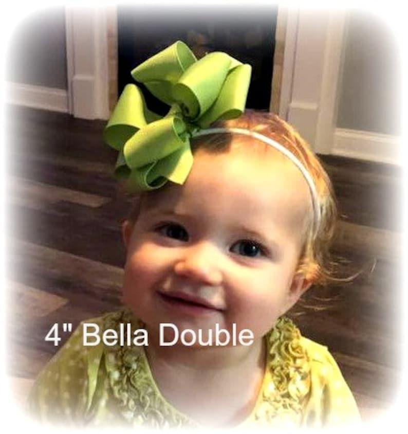 Baby Hair Bow Bella Bows,Neon hair bow Pink Baby Headband Neon Bow Big Pink Bow Pink Hair Bow Triple Layered Bow Tutti Fruiti Hairbow