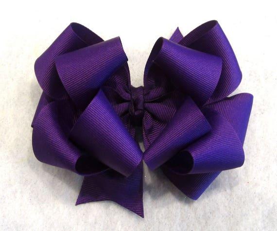 df35187e33c Dark Purple Hair Bow Girls Purple Bow Purple Hairbow Baby