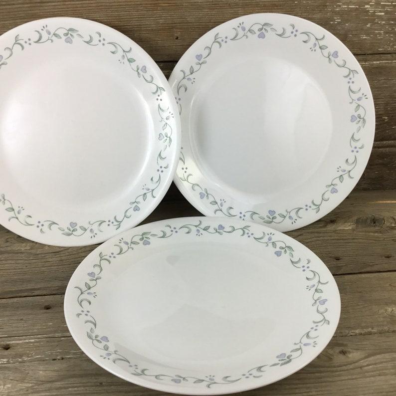 3 corelle country cottage dinner plates 10 25 corning etsy rh etsy com