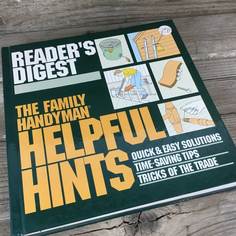 Reader's Digest The Family Handyman Helpful Hints, How To, Vintage Books,  Ephemera, Office Decor, Paper Ephemera