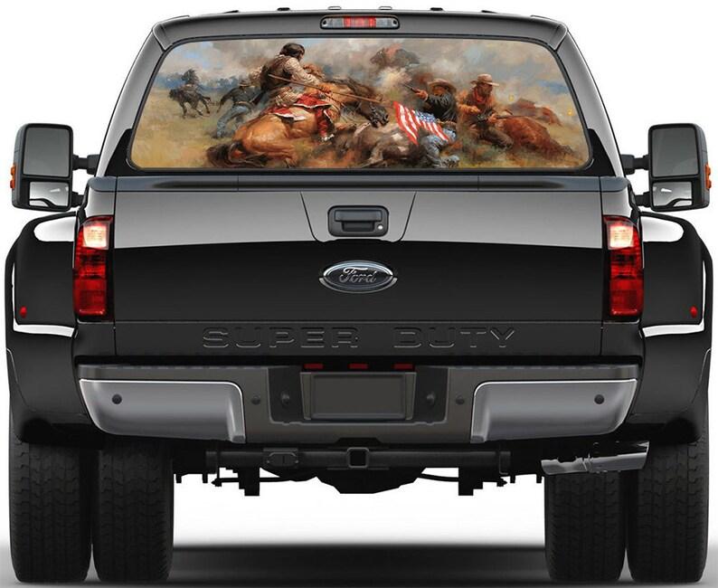 Wilde West Battle Window Graphic Decal Sticker Truck SUV Van Car