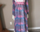 Vintage Gunne Sax like Maxi Dress in larger size from vintage pattern