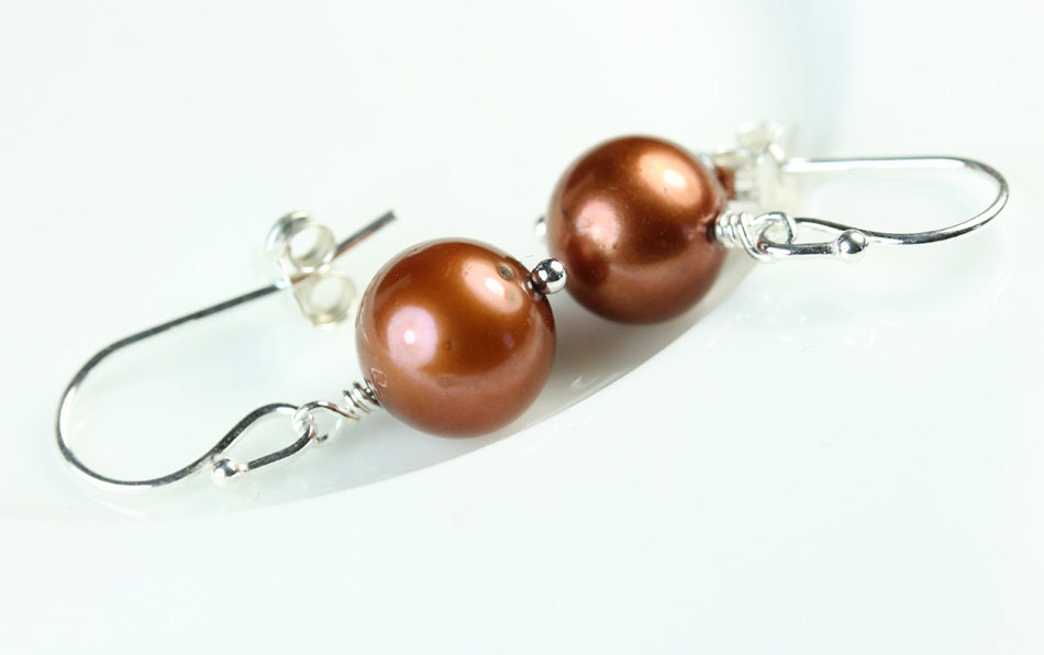 Pendientes de oro jaspe piedras preciosas perlas Ganchos Clip en postes o mariposa
