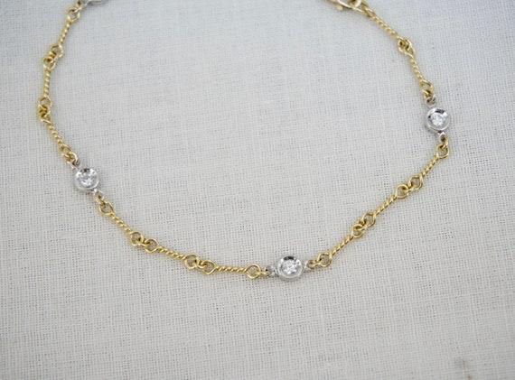 288804e234d Roberto Coin 18K Yellow White Two Tone Gold Dog-bone Chain