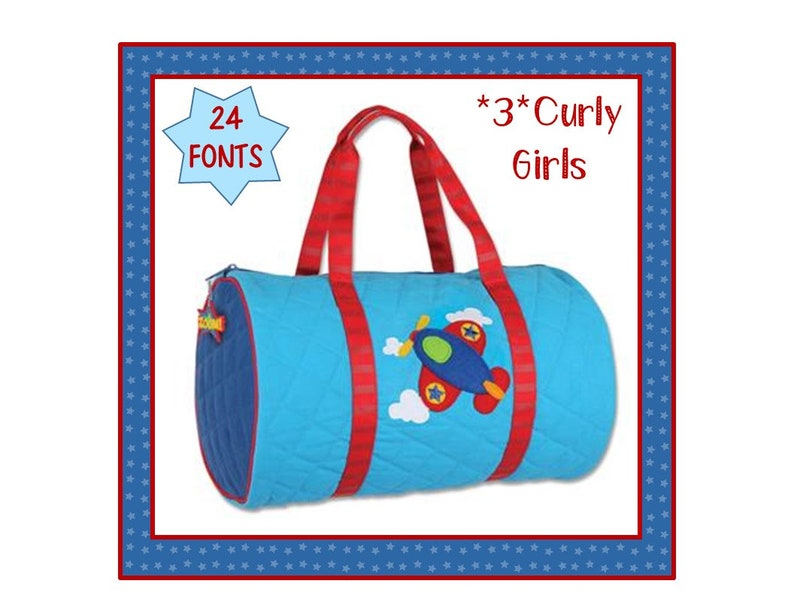 ad7b880c96 24 Fonts Personalized Toddler AIRPLANE Boy s Quilted