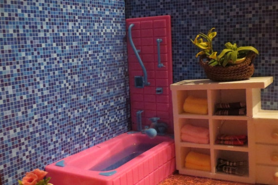 1 12 And 1 24 Scale Downloadable Printable Dollhouse Bathroom Etsy