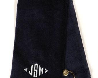 Monogrammed Golf Towel - Set of 6