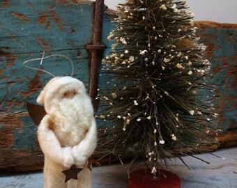 Cotton Batting White Angel Santa Named Hes An Angel
