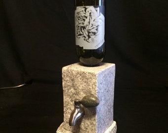 POLISHED Stone Wine and Liquor Dispenser (includes pedestal base)