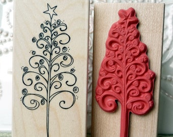 Mounted Rubber Stamp Printworks CURLY LACE BORDER