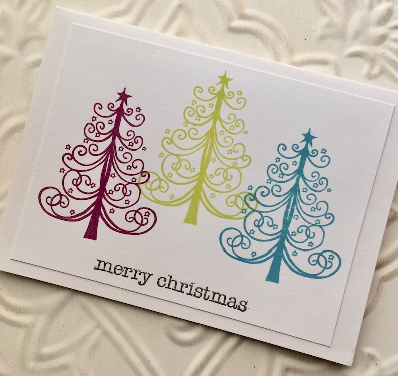 Merry Christmas rubber stamp from oldislandstamps